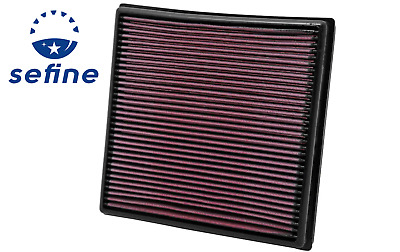 Fits Chevy Cruze 2011-2015 1.4//2.0L K/&N High Flow Replacement Air Filter