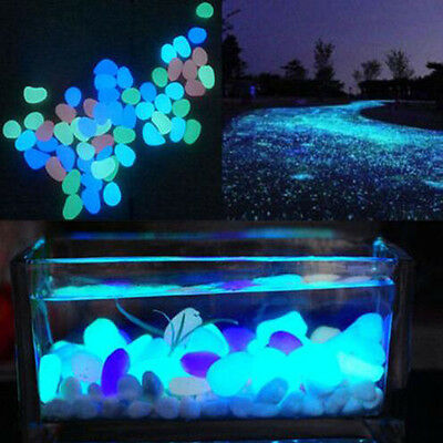 10Pcs Glow In The Dark Aquarium Landscape Stone Fish Tank Aquarium Decor Funny