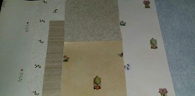Lot Of 7 Sheets Of Dollhouse Miniatures Wallpaper Assorted Styles, Sizes