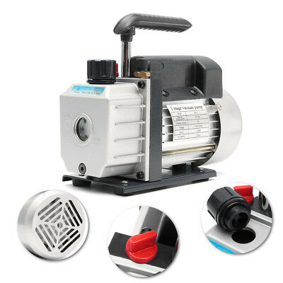 3CFM Rotary Vane Vacuum Pump Single Stage 1/4HP  Air Condition Tools System