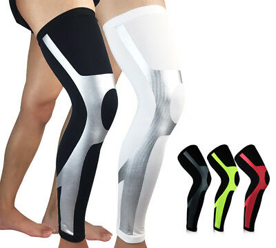 1X Knee Compression Sleeve Support Baseball Running Gym Sports Pain Relief TOP
