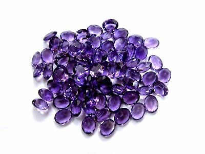 AAA+++ Natural African Amethyst Oval Faceted Loose Gemstone Lot Wholesale Price