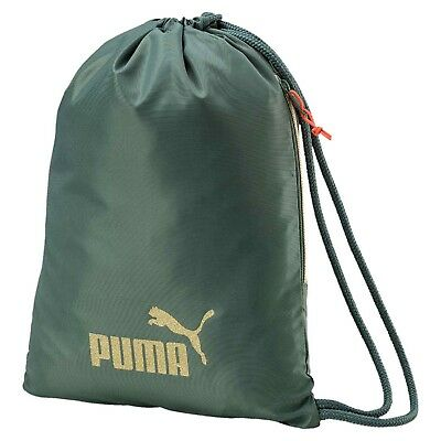 693fc37e438db PUMA CORE GYM Sack Ladies Lightweight Zip Stamp Drawstring Compact ...
