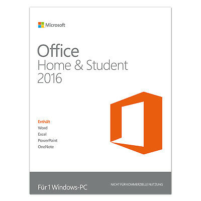 MS Microsoft Office 2016 Home and Student für PC | inkl. Word Excel PowerPoint