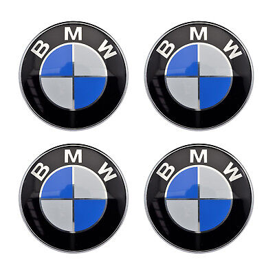 "4x 56mm 2.2"" Auto Car Wheel Center Hub Cap Emblem Badge Decal Sticker for BMW"