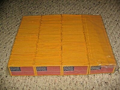 (100) U.S. American Forward Facing Flag Gold Border Patches Dealers Lot