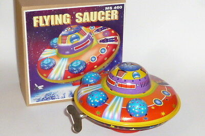 Flying Saucer Ufo Raumschiff Space Enterprice Toy Rakete spacetoy Weltall Blech