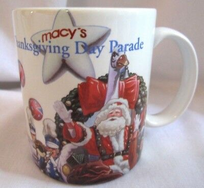 Vintage Macy's Thanksgiving Parade Santa Toy Soldiers Clown Coffee Cup Mug
