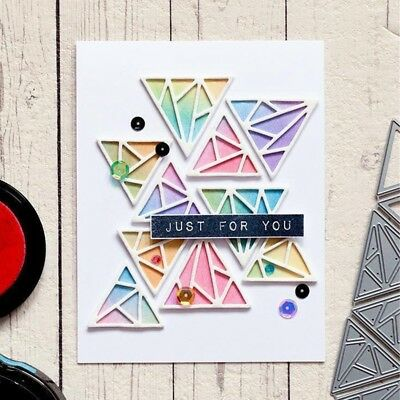 Triangle Background Set  Cutting Dies for DIY Scrapbooking Paper Card Craft 1X