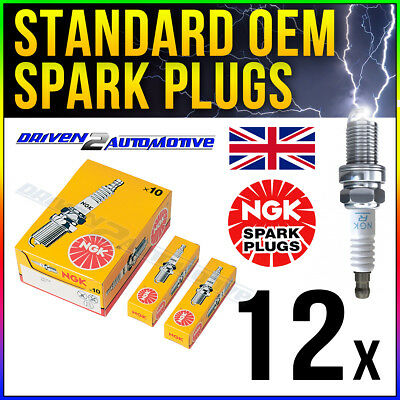 12 x NGK BPMR7A SPARK PLUGS AT WHOLESALE PRICE - FITS MANY OUTDOOR POWER TOOLS