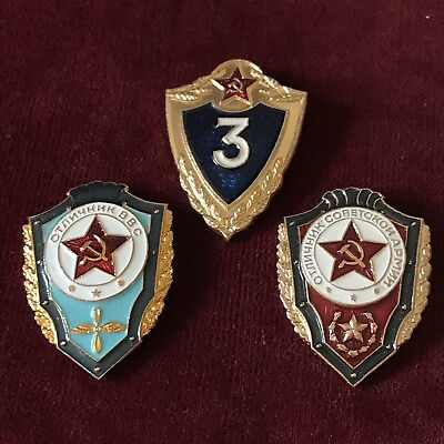 Russian Military Badges X3 - Modern Reproductions