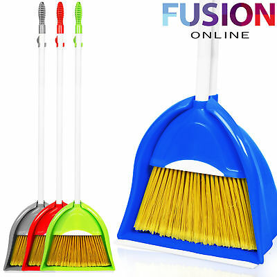 Strong Long Handle Dustpan Dust Pan And Brush Set Garden Broom Sweeper Cleaning
