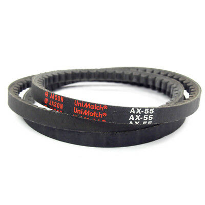 "Jason AX55 Cogged Raw Edge V-Belt | AX Section | 1/2"" Top Width x 5/16"" Thick"