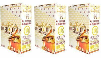 High Hemp Honey Pot Swirl Organic Wraps 3 Box 75 Pouch (150 Wraps) NON GMO