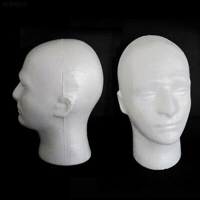 Male Polystyrene Styrofoam Model Head Mannequin Stand Wig Hair Hat Display UK