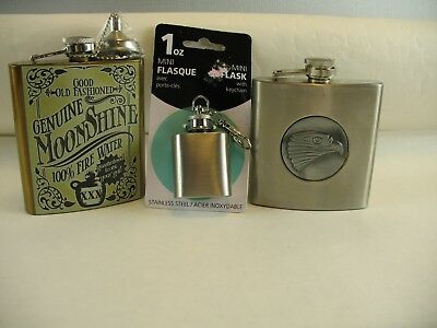 three Flasks Stainless steel ...lot of 3