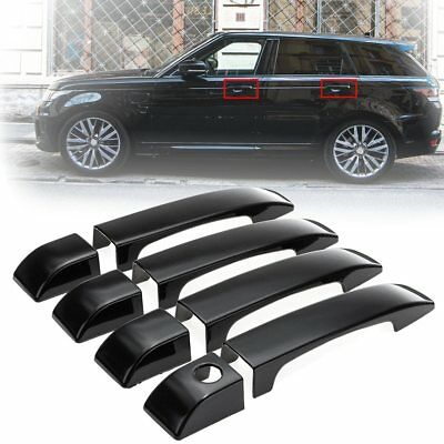 For Land Rover Range L322 2002--2012 Gloss Black Door Handle Covers Trim 8pcs