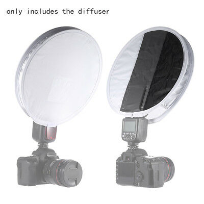 30cm12in White Balance 18% Gray Card Board Round Flash Diffuser Soft Light Cover
