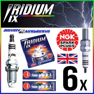 6x NGK BR7HIX 7067 IRIDIUM IX SPARK PLUGS JOHNSON 35 hp 76–>