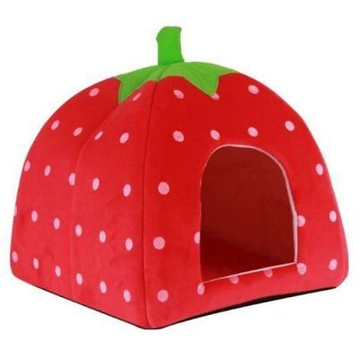 Strawberry Dog Cat Bed Cushion Home Kennel Puppy Pet Nest Animal Nest Pet C P9J7