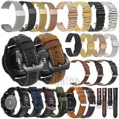 18/20/22/24mm Nylon/Leather/Milanese Stainless Steel Mesh Watch Band Wrist Strap