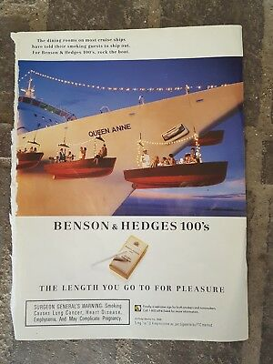1996 print ad-Benson & Hedges 100's-The length you will go for pleasure