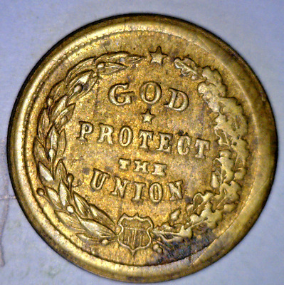 1863 Civil War Token - God Protect The Union 5/288 Br R3 Au