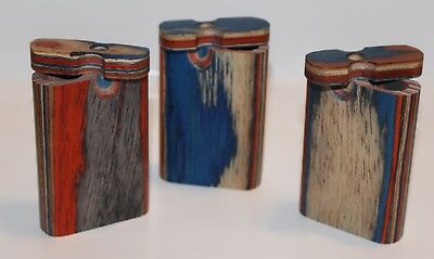 Small Wooden Dugout With Metal Cigarette, Assorted Designs, Buy 3 Get 1 Free