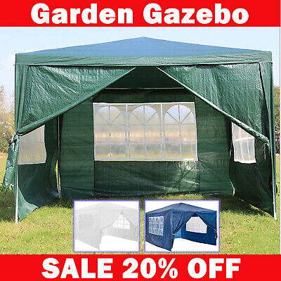 3X6M 3X3M Folding Gazebo Outdoor Marquee Party Canopy Market Camp Tent Shade BBQ