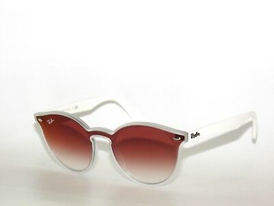 7a371c1902 NWT RAY BAN RB4380N Matte Transparent Gradient Blue Mirror Red Lens ...