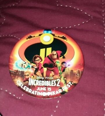 2018 Disneyland Incredibles 2 Button Mint