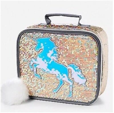 Justice Unicorn Lunch Tote Flip Sequins Gold Sold Out Unicorn 🦄