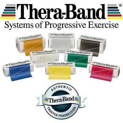 Theraband Exercise Bands Resistance Thera Fitness Physio Pilates Gold Red Black