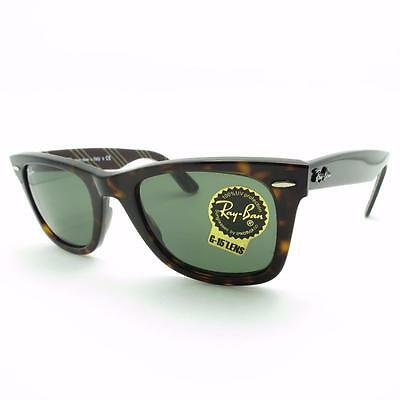 de9bf7be8753f RAY BAN WAYFARER Denim 2140 1162 Black G15 New Authentic Sunglasses ...