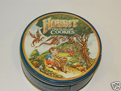 hobbit cookies tin RARE lord of the rings vintage