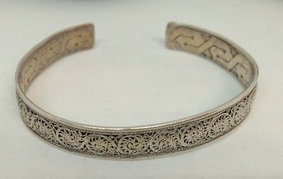 Antique Chinese Export Silver Bangle