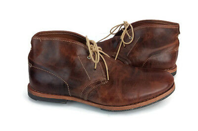 TIMBERLAND WODEHOUSE MEN'S Brown Leather Lace Up Causal Chukka Boots US Size 8