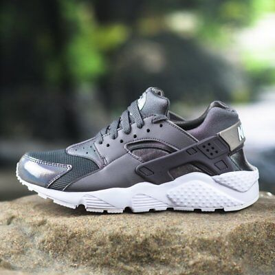 newest 30df5 8f0bd Nike Huarache Run Gs Grade School Gunsmoke Grey Youth Girls Women 654280-013