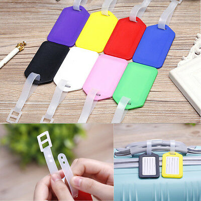 Travel Luggage Bags Tags Plastic Suitcase Baggage Office Name Address ID Label