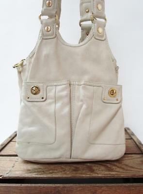 27dab3d4c4f9 MARC by MARC JACOBS Off White Leather Totally Turnlock Teri Tote Bag Purse   WEAR