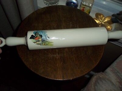 Unusual Unique Porcelain Pottery Rolling Pin Kitchen Countryside Hollow Hangs