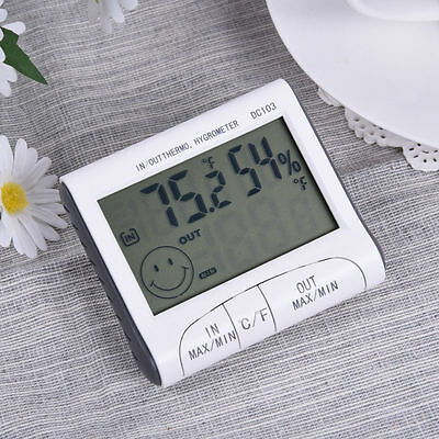 Digital LCD Indoor Outdoor Weather Thermometer Hygrometer Humidity Meter C/F Hot