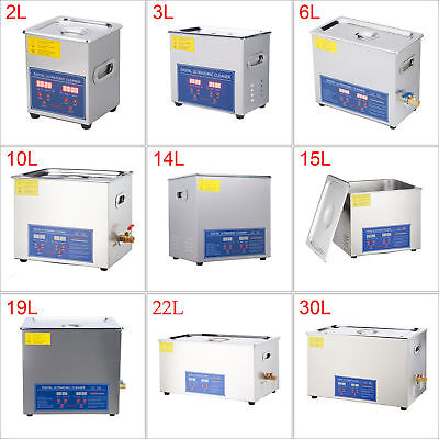 2L to 30L Ultrasonic Cleaner Stainless Steel Cleaning Equipment Heater Timer
