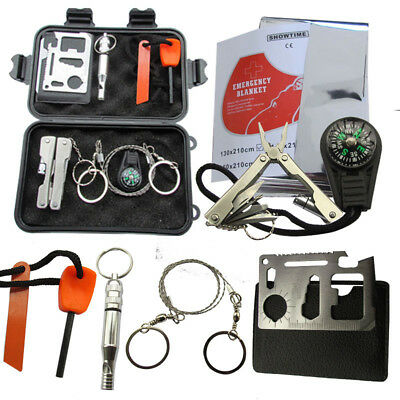 1 Set SOS Emergency Survival Equipment Kit Hiking Camping Outdoor Sports Tools