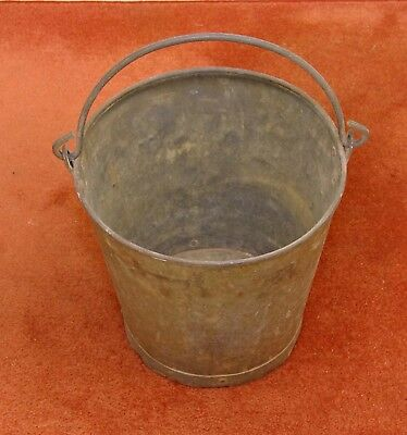 Vintage Galvanized Metal Bucket With Metal Handle - Great For Holding Firewood