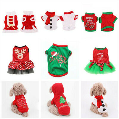 Winter Warm Clothes Pet Dog Cat T-shirt Coat Christmas Xmas Puppy Apparels Gifts