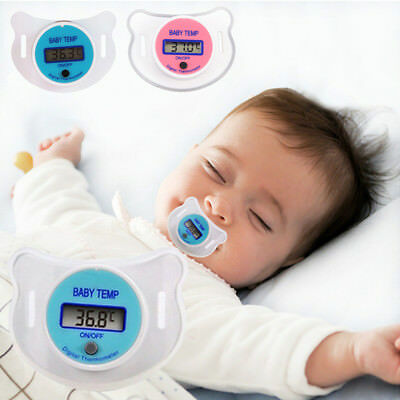 1X Safe Practical Mouth Nipple Temperature Baby LCD Digita Pacifier Thermometer