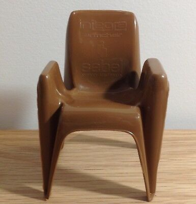 Mid Century  Chocolate Sebel Armchair -Aust Salesman's  Advertising Sample Chair