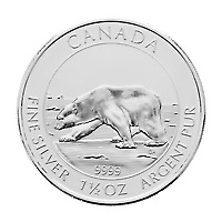 Lot of 5 x 1.5 oz 2013 Canadian Polar Bear Silver Coin