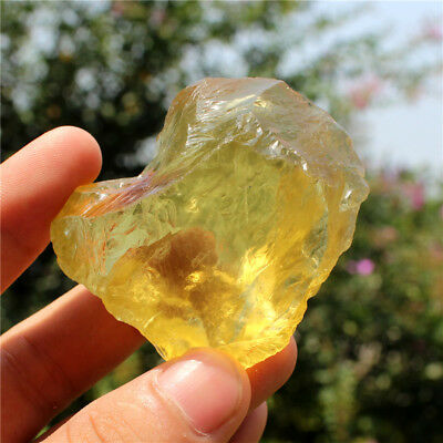 Natural citrine crystal quartz stone sculpture lucky ore energy chakra stones